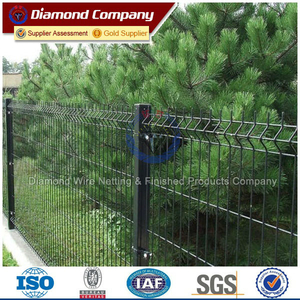 plastic coated welded garden border fence price