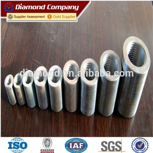 hot sale rebar threaded coupler /stainless steel rebar splicing coupler factory