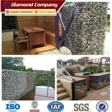 Decorative welded stone fence gabion wire mesh box