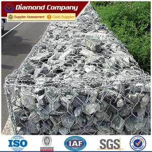 heavy zinc coated gabion box wire fencing for sale