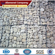 Galvanized welded gabion wire mesh box, welded gabion mesh for decoration, stone cage