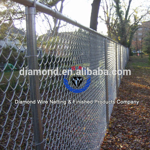 2016 hot sale galvanized heavy chain link fence