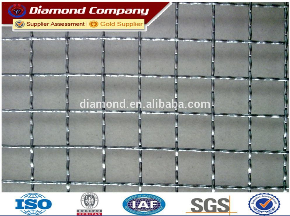 2mm 304 316 stainless steel crimped wire mesh factory