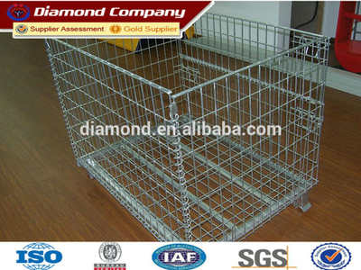 Meatal foldable Storage Cage,lockable storage cage,steel cage with wheels