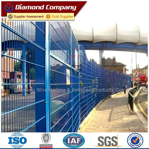 pvc coated security fencing panels/ galvanized airport security fence price