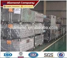 Heavy duty stackable wire mesh container/portable warehouse storage cage