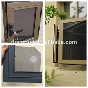 black marine grade anti-intruder stainless steel security window screen