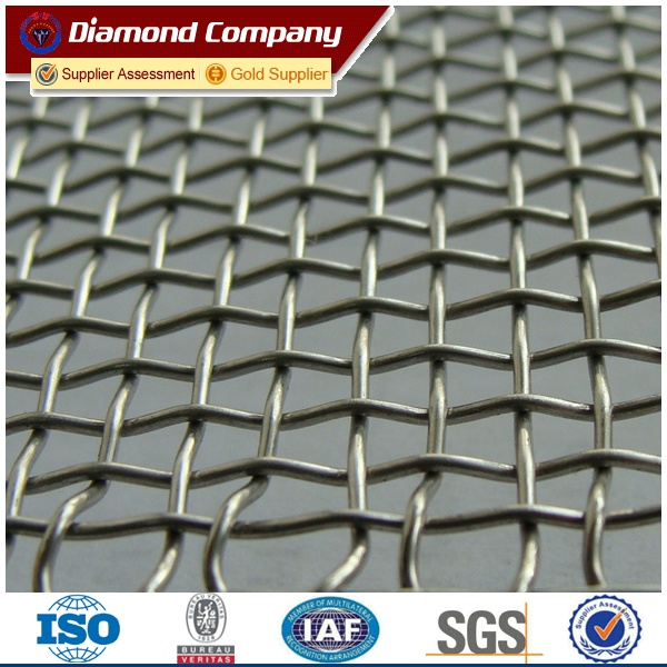 Diamond galvanized square wire mesh 4x4 price (factory sale)