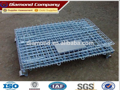 Directly factory durable metal foldable storage cage