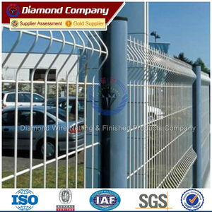 vinyl coated welded mesh fencing/welded wire powder fence gate
