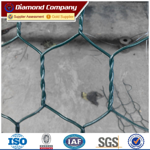 Quality guarantee green pvc coated stone gabion basket/gabion box for stone cage