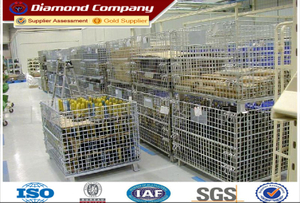Foldable Storage Cage&stackable storage cage&warehouse storage cage&wire mesh storage cage