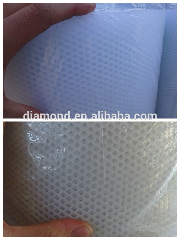 White plastic small hole chicken wire fence