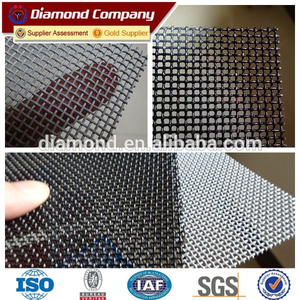 Stainless steel wire mesh black powder coated/security window screen mesh