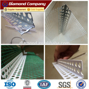 Manufacture corner bead wire msh/pvc corner bead with mesh