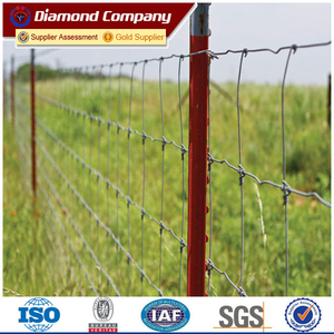 Diamond studded t post fence/metal t bar fence post
