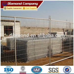 Portable construction site temporary fencing